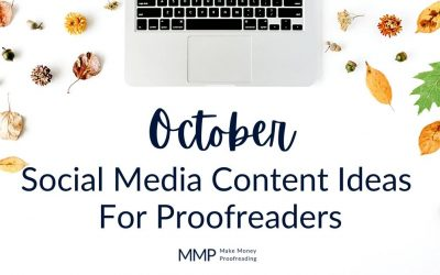October Social Media Content Ideas For Proofreaders